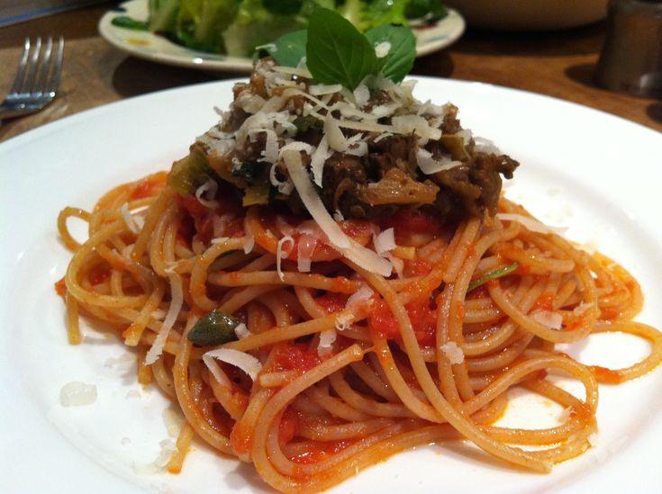 spaghetti alla norma via the little loaf