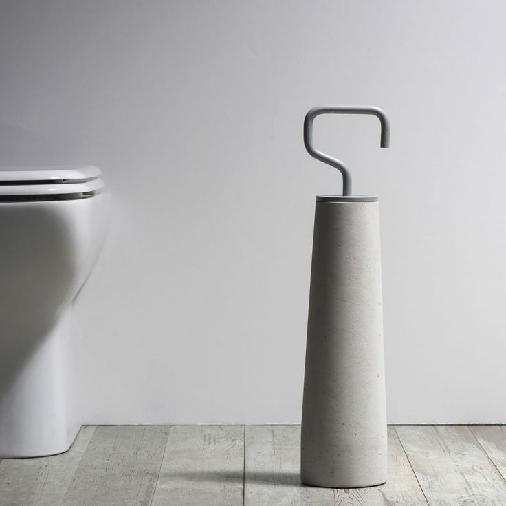 Unconventional Bathroom Accessories, We present our unique STREET.  Concrete and brass give soul to an object that usually is not considered in the bathroom: the toilet brush holder, which acquires an identity and a strong character and becomes iconic. Street, besides being an object with a classic function, also assumes a supporting function, support for getting up and sitting on the wc. The brass handle and the concrete body ensure maximum support, up to 120kg. The height of the toilet…