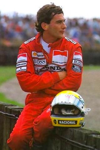 Ayrton Senna. One of the best ever. He left us too soon.