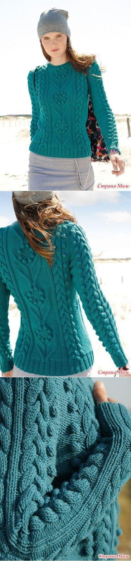 Очаровательный пуловер - Вязание - Страна Мам