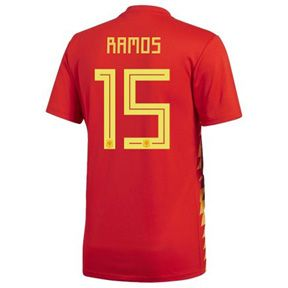 adidas Spain Sergio Ramos #15 WC2018 Soccer Jersey (Home 17/18): https://www.soccerevolution.com/store/products/ADI_41072_A.php