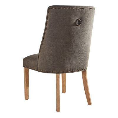Corinne Charcoal Dining Chair with Natural Stonewash Wood