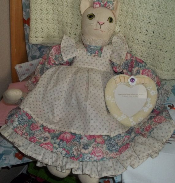 Cat Doll Cat Doll Handmade Cat Doll Vintage by SuzyQsVintageShop, $22.75