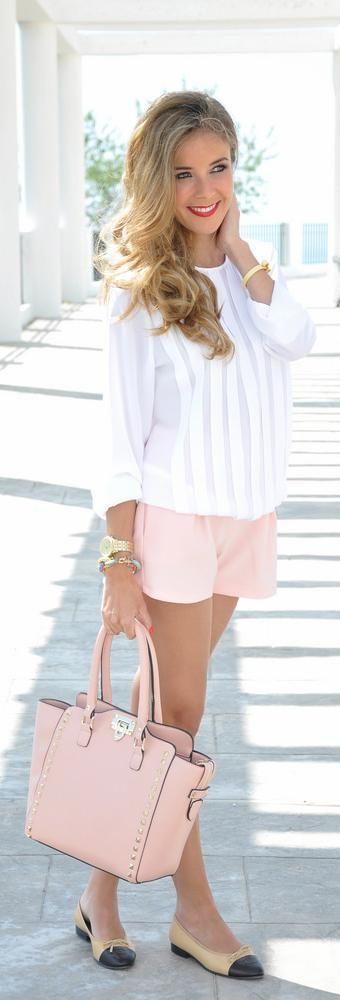 White + Pink: