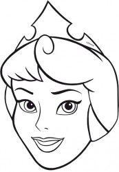 Masques à colorier et crayons de couleurs - Princesses Disney - x4