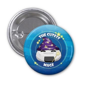 Be cute, be horror, be original! Apply this button on your bag or Halloween costume, and show some Mage love!