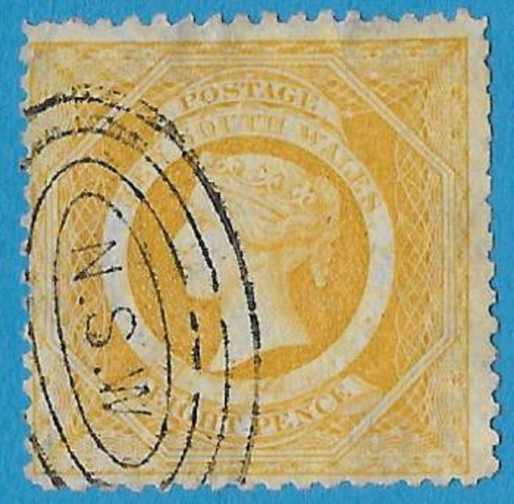 + 1877 New South Wales Australian States Queen Victoria #58 A13 8d used