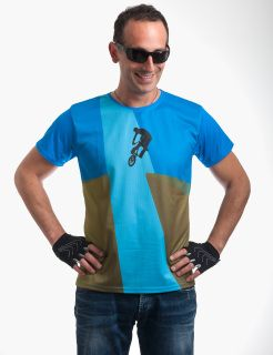 "Athletic microfiber t-shirt for cyclists ""Eternal Ride"" 360 printed"