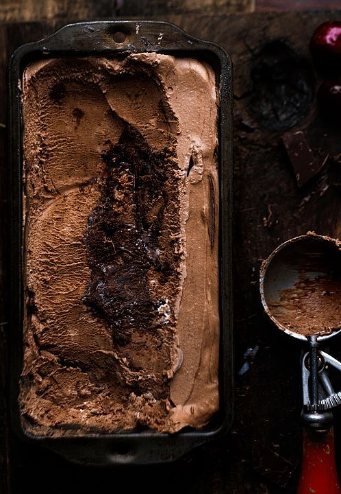 Bourbon Chocolate Cherry Fudge Chunk Ice Cream