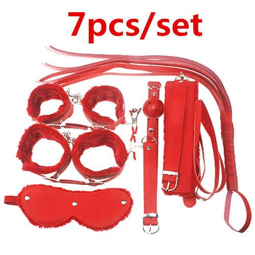 ==> [Free Shipping] Buy Best Adult Game 7Pieces kit Leather Fetish sex bondage Restraint gag Queen Constume nipple clamps whip sex toy for couples Online with LOWEST Price   32294108048
