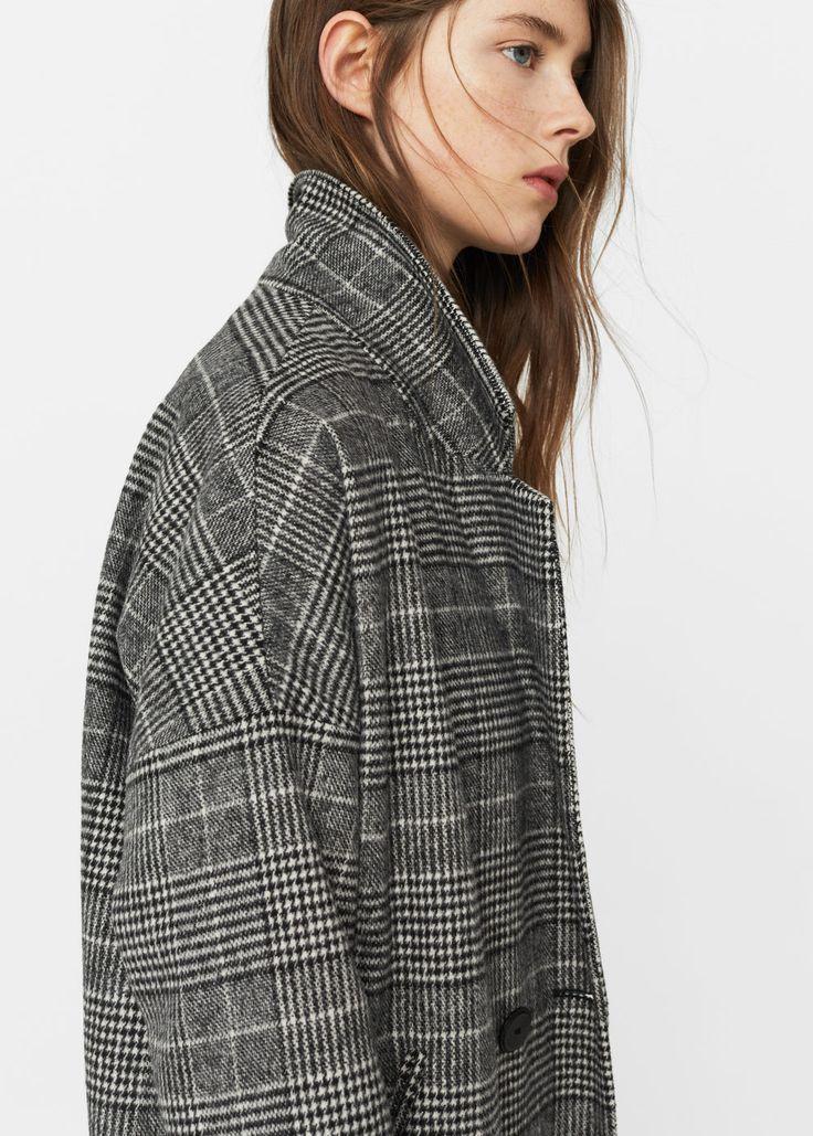 Manteau prince de galles | MANGO