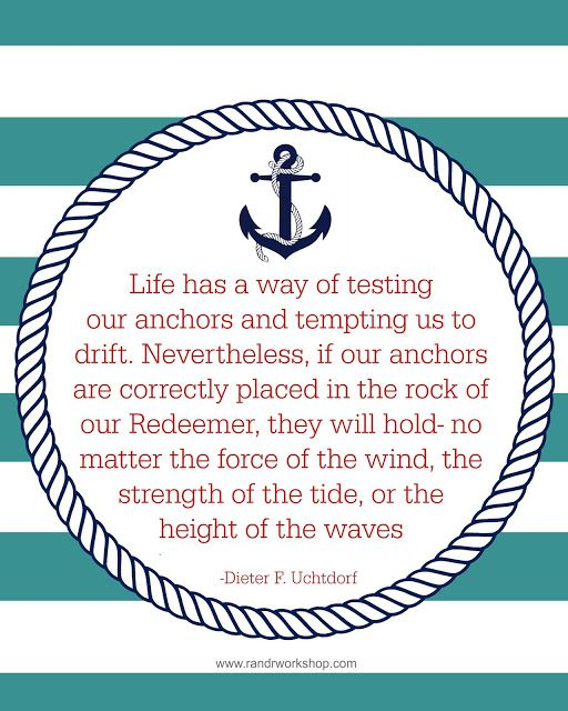 Anchor Quote- 8x10 print