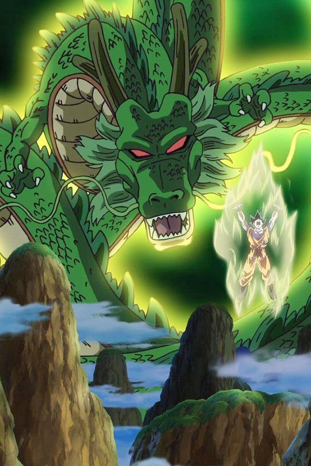 Dragon Ball Z Shenron and Goku, Dragon Ball Z desktop wallpapers, backgrounds… - Visit now for 3D Dragon Ball Z compression shirts now on sale! #dragonball #dbz #dragonballsuper