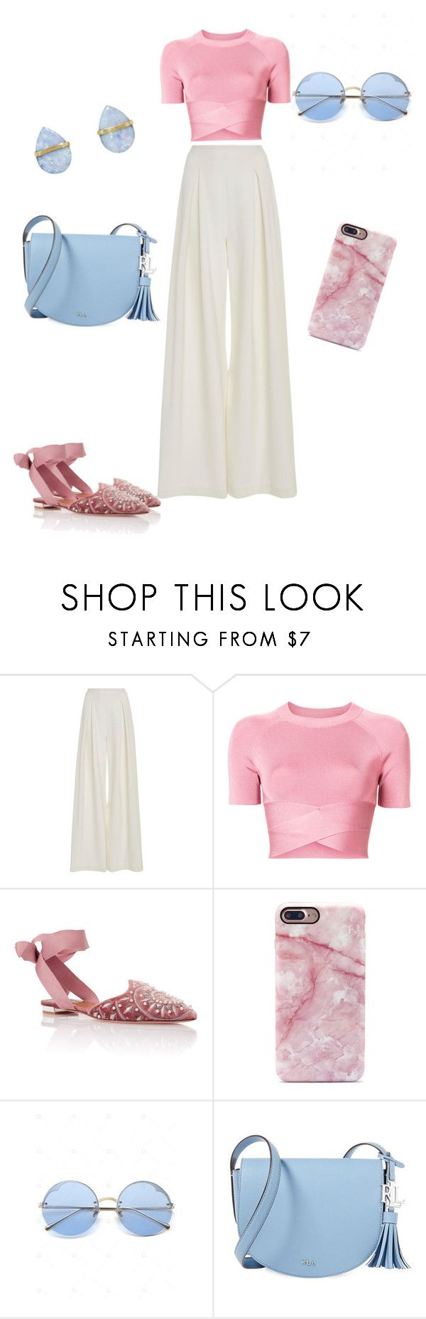 """Pink top!!"" by yuki-shockey on Polyvore featuring Christian Siriano, T By Alexander Wang, Tabitha Simmons, Lauren Ralph Lauren and Melissa Joy Manning"