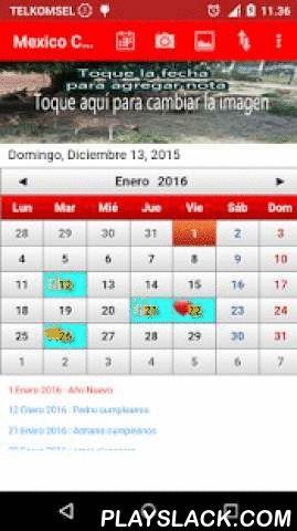 Mexico Calendario 2016  Android App - playslack.com ,  Mexico Calendario con lista de feriados 2015, 2016 y 2017Verá este calendario como calendario en la pared.- También puede cambiar la imagen de este calendario.- En esta aplicación también viene con vínculos con descuentos y el sitio web de noticias que nos permite hoy descubrir descuentos y noticias de actualidad-Establezca Día de inicio de semana (domingo o lunes)- Añadir nota con el icono de cumpleaños, amor, trabajo, etc.