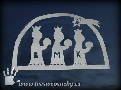 Vystřihovánka Tři králové