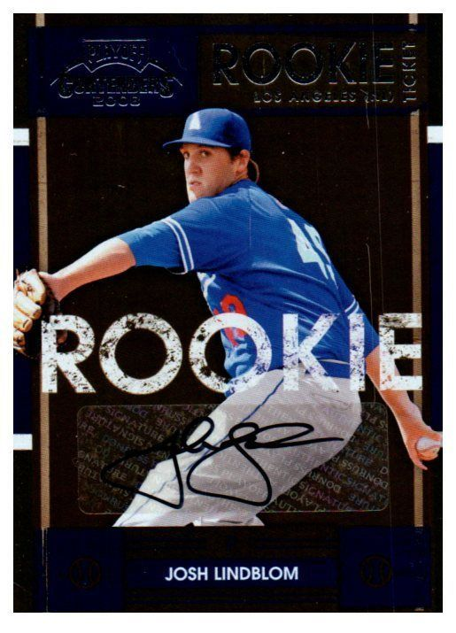 2008 Playoff Contenders Josh Lindblom Rookie Ticket Autograph Card Dodgers #LosAngelesDodgers