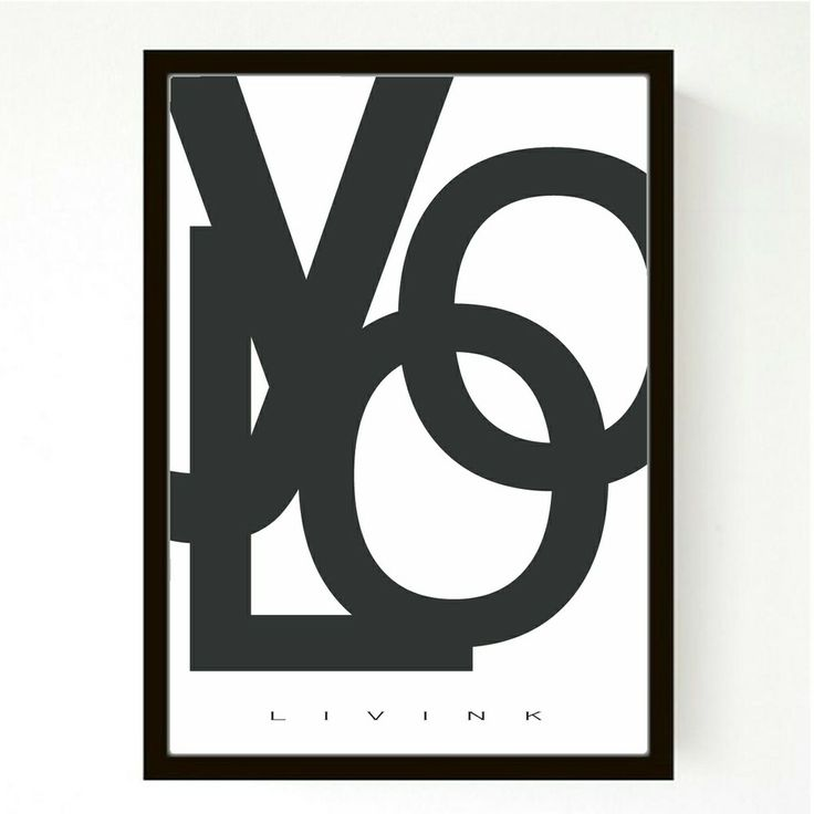 50 X 70 CM - FORUDBESTILLING - YOLO via LIVINK. Click on the image to see more!