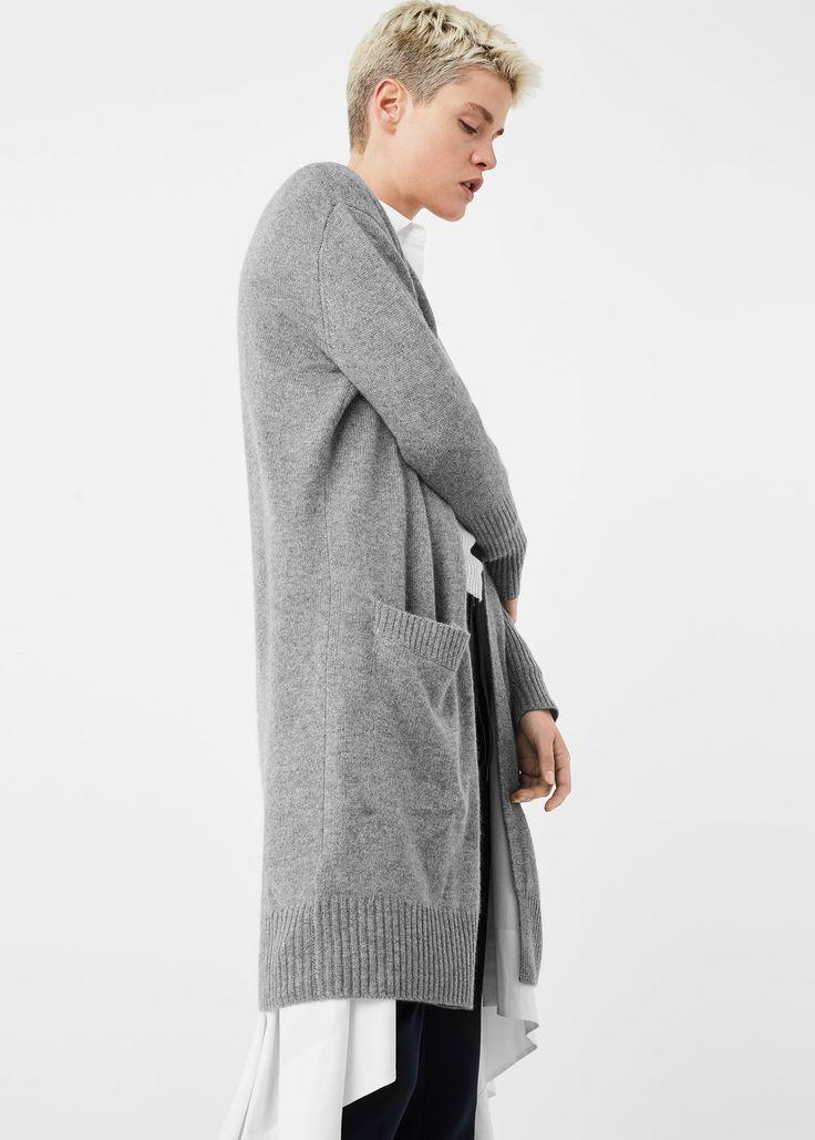 Cardigan 100% caxemira - Cardigãs e camisolas de Mulher | MANGO Portugal