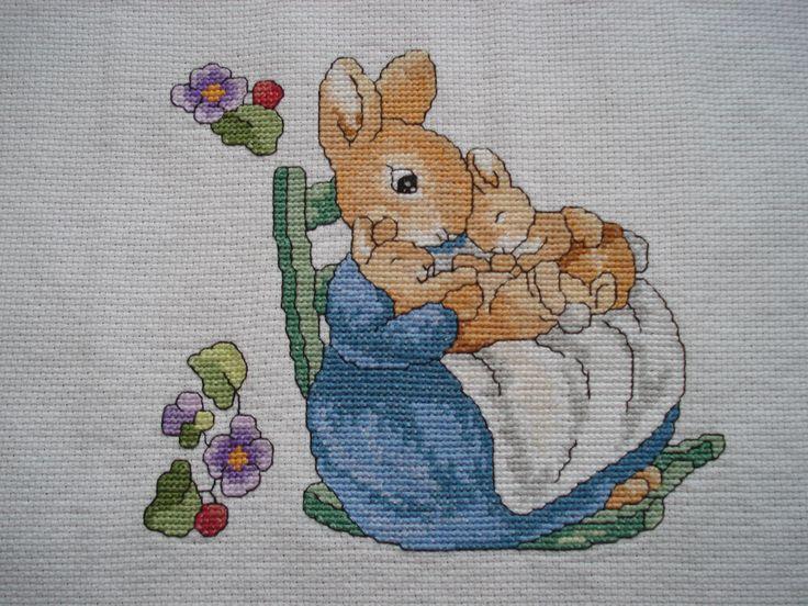 Beatrix Potter cross stitch - by thecraftyflea