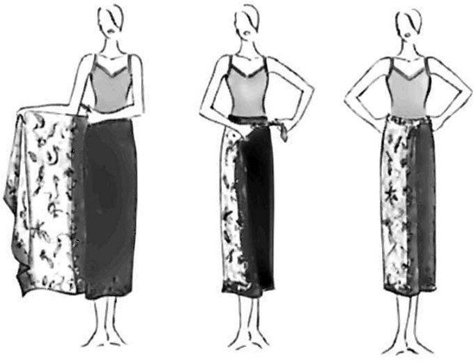 Как завязывать юбку саронг фото Таиландский способ