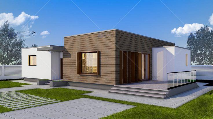 Proiect casa parter (128 mp) - Gliso. Mai multe detalii gasiti aici: https://www.uberhause.ro/proiect-casa-parter-128-metri-patrati-gliso