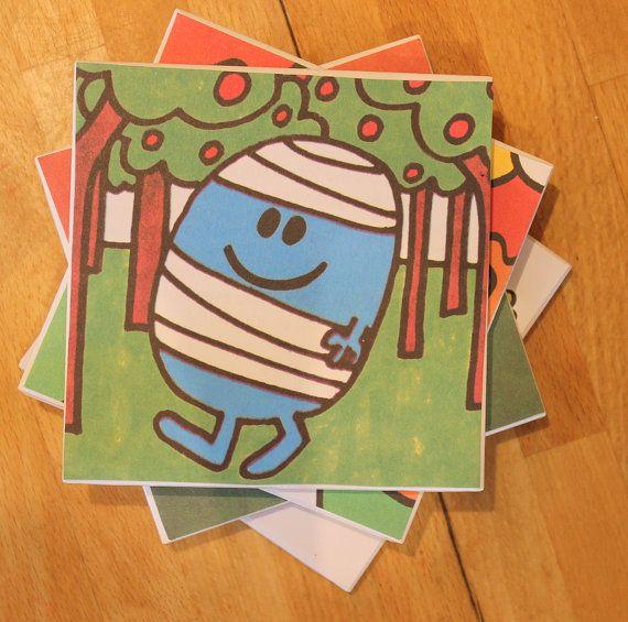4 Mr Men and Little Miss CoastersDrinks CoasterMr by Yettydesigns