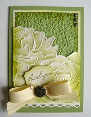 manhattan flower - watercolored and sponged: Manhattan Rose, Cards Ideas, Embossing Folder, Rose Cards, Flowers Embossing, Manhattan Flowers, Flowers Watercolor, Stampin Up Cards, Anne Craig