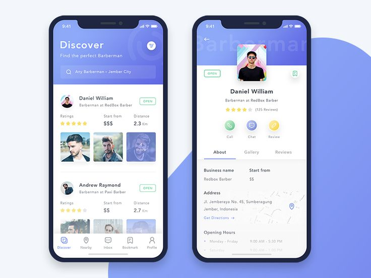 Barbara App Concept - Find The Perfect Barberman by Ahmad Nur Fawaid