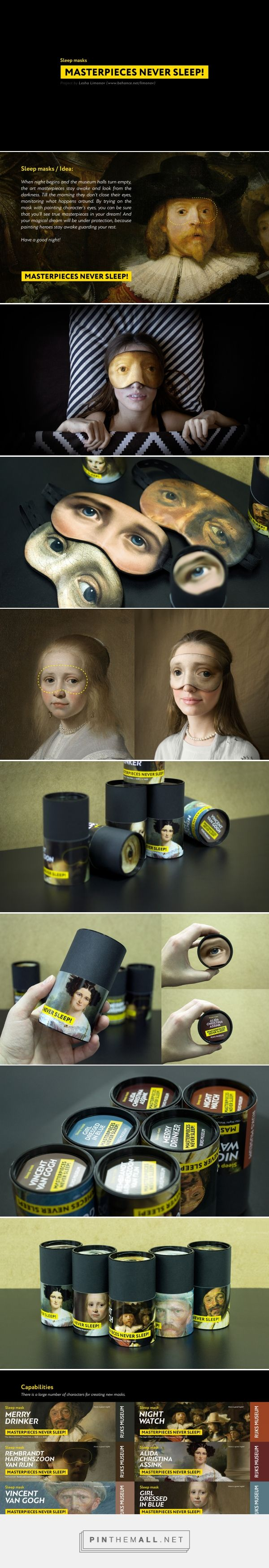 Masterpieces never sleep packaging design by lesha limonov http www