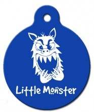 Little Monster Pet Tag http://www.wagatudetags.com/little-monster-pet-tag/