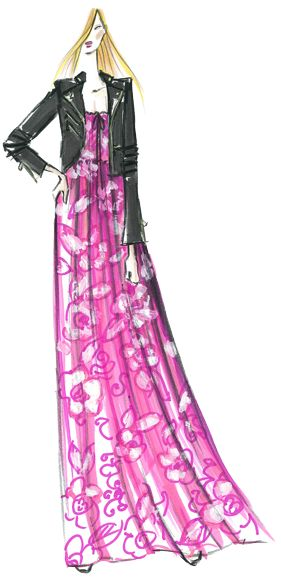Designer Sketch by Juicy Couture - PANTONE Radiant Orchid Spring 2014 Pantone Fashion Color Report #FCRS14 #pantone  @Juicy Couture
