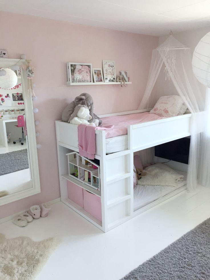 KURA Bett. #kurabed #kurahack #kidsbed #kidsroom #pink #white