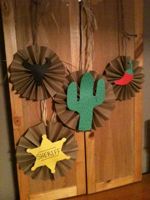 "Decorations for the twins' ""Cowboy Fiesta Party"""