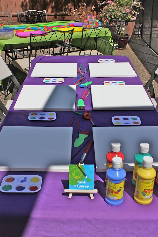its easy being greene bens art party the activities - Paint Games For Toddlers