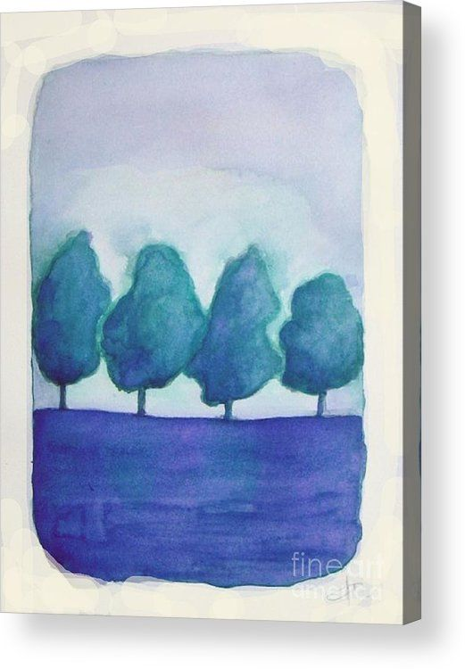 The Trees Abstract Landscape By Vesna Antic Acrylic Print By