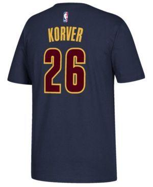 adidas Men's Kyle Korver Cleveland Cavaliers Player T-Shirt  - Blue XXL