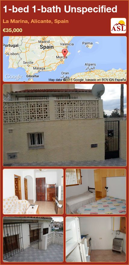 1-bed 1-bath Unspecified in La Marina, Alicante, Spain ►€35,000 #PropertyForSaleInSpain