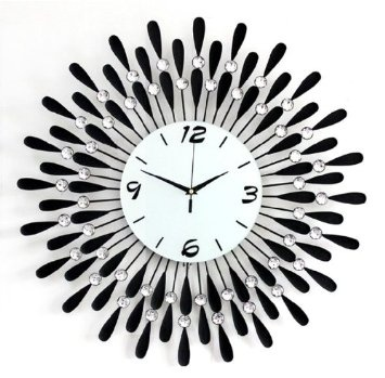Amazon Com 20 Modern Crystal Metal Wall Clock Home Kitchen