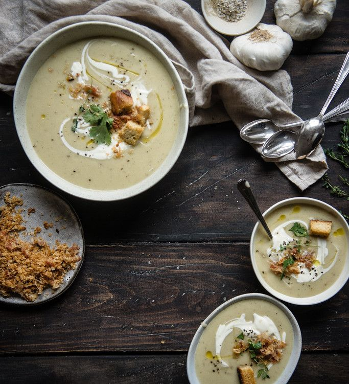 Potato, Garlic and Leek Soup