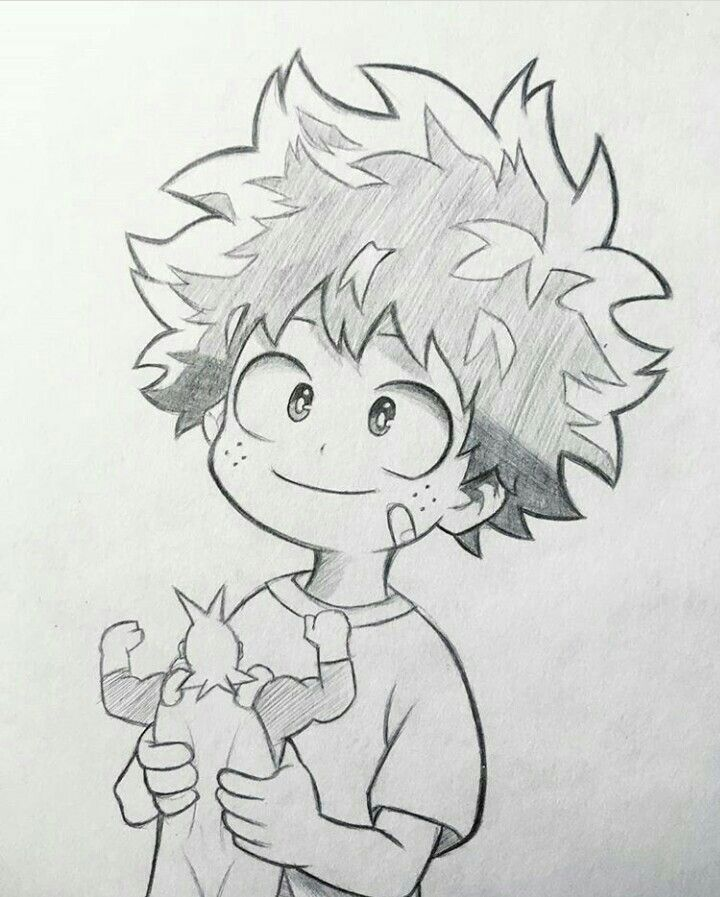 Izuku Midoriya Anime Character Drawing Anime Drawings Sketches Manga Drawing