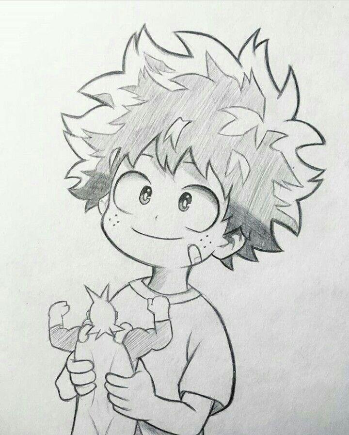 Deku Drawing Easy : drawing, Animes, Anime, Character, Drawing,, Manga, Sketches