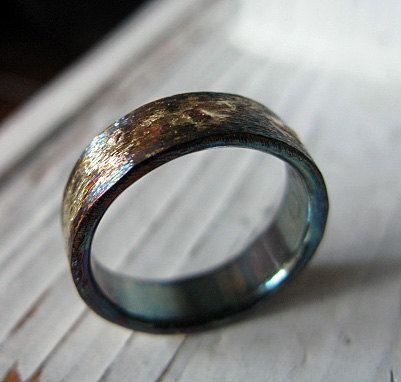 Mens Wedding Band Mens Comfort Fit Wedding Ring by RUSTICforMEN
