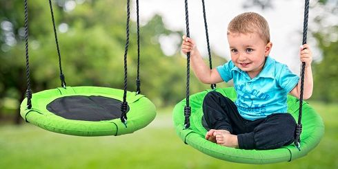 Kruhová houpačka i pro větší děti