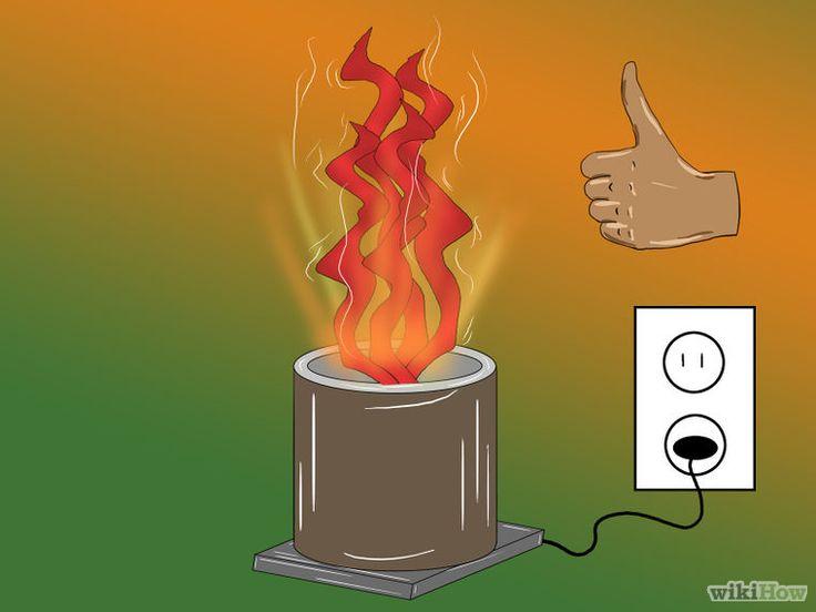 Make a Fake Fire diy. Fuego falso imitacion