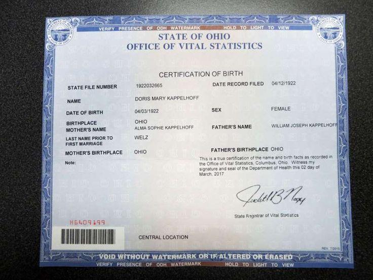 Las 25 mejores ideas sobre Birth Certificate Office en Pinterest - a blank birth certificate