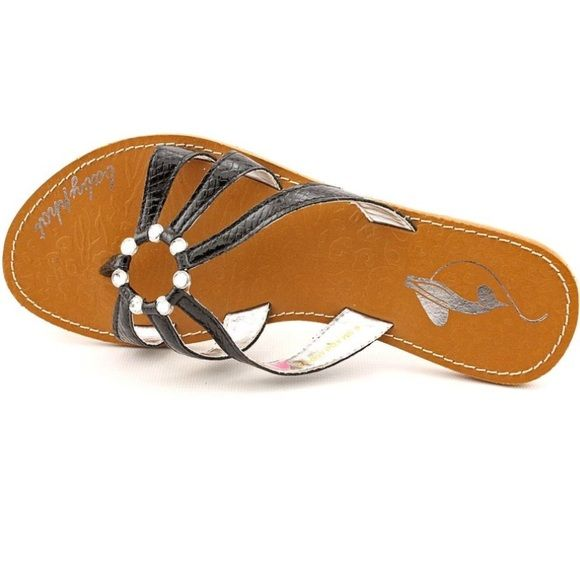 Deal  Baby Phat Sandals Color: Black with Clear Rhinestones.           Product Dimensions11.5 x 5.1 x 4 inches Great condition. Have been pre-loved but only worn a few times. Baby Phat Shoes