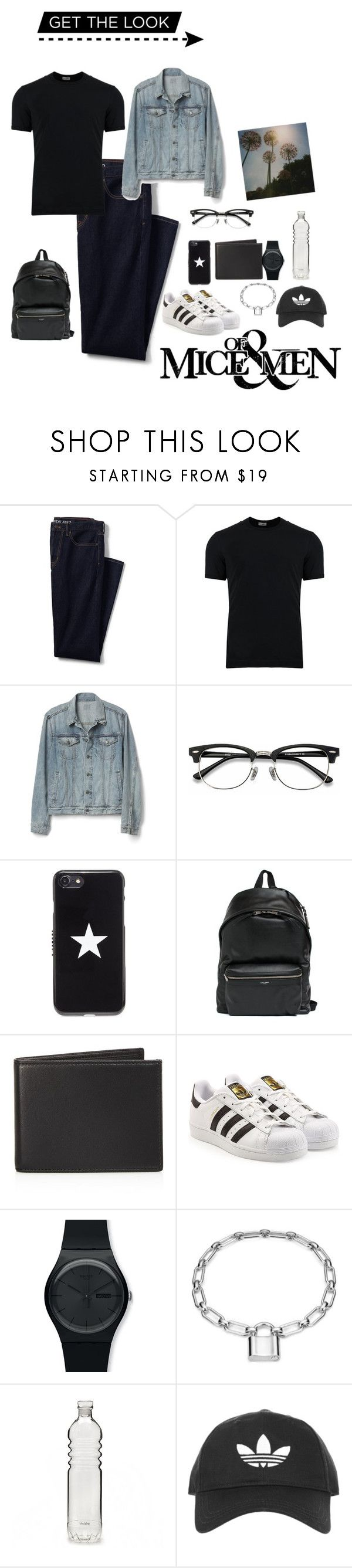 """Park"" by whygoli ❤ liked on Polyvore featuring Lands' End, Dolce&Gabbana, Gap, Ace, Givenchy, Yves Saint Laurent, The Men's Store, adidas, Swatch and Blue Nile"
