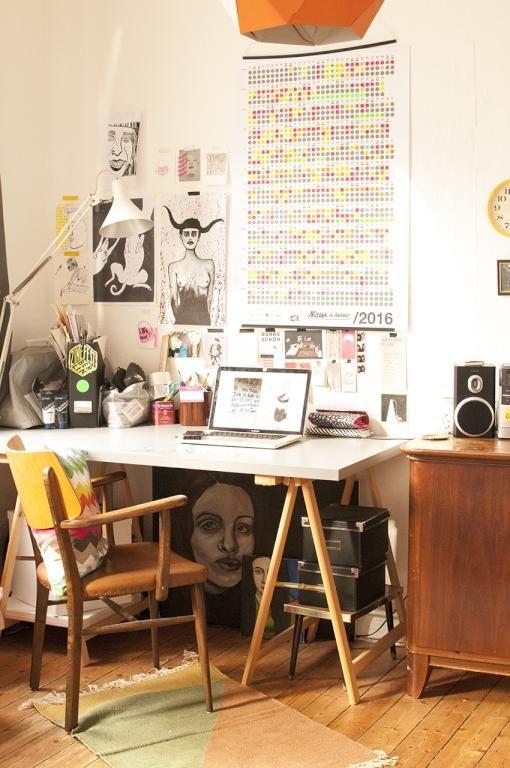 die besten 25 retro schreibtisch ideen auf pinterest. Black Bedroom Furniture Sets. Home Design Ideas