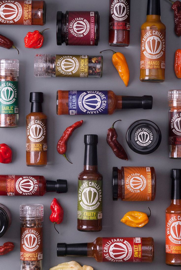 Are you brave enough to try some of the chilli varieties from Wiltshire  Chilli Farm? Taking inspiration from Marvel and DC comics and superheroes,  Buddy has developed a branding and packaging for bottles of chilli sauce  and spices that pack a punch of personality